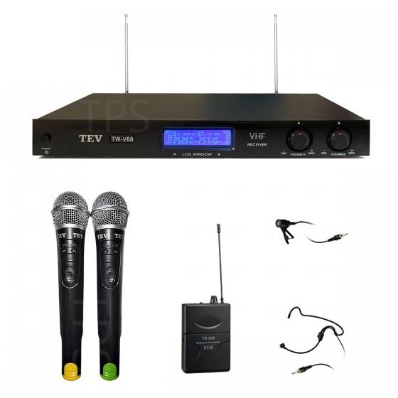 TW-V88  VHF雙頻無線麥克風